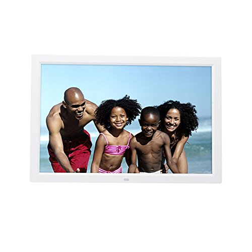 - Celendi 15-Inch 1280x800 High Resolution Digital Photo Frame With Auto On/Off Timer, MP3 and Video Player, White
