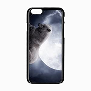 iPhone 6 Black Hardshell Case 4.7inch wolf predator Desin Images Protector Back Cover by runtopwell
