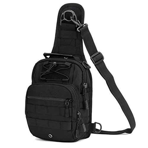 Hunting For Laptop Pack Camping Daypack Sling Tactical Waterproof Military Bag Running Chest Black Huntvp Z1TvqT