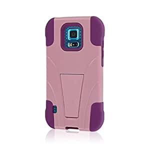Samsung Galaxy S5 Sport Case, MPERO IMPACT X Series Dual Layered Tough Durable Shock Absorbing Silicone Polycarbonate Hybrid Kickstand Case for Galaxy S5 Sport [Perfect Fit & Precise Port Cut Outs] - Pink