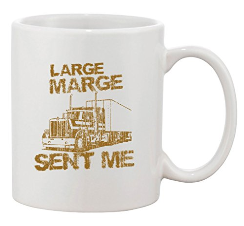 Large Marge Sent Me Truck TV Bicycle Thieves Parody DT Ceramic White Coffee Mug