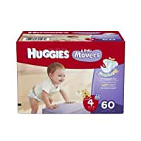 Huggies Little Movers Diapers, Size 4, Big Pack, 60 Count (packaging may vary)