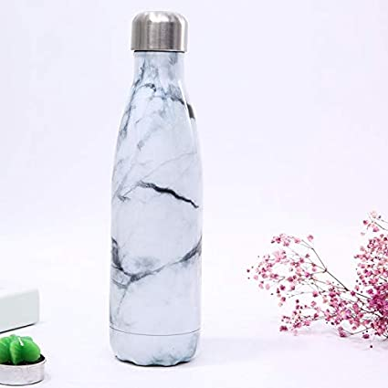 JIUJ deportes botella de agua de mármol botella de coque aislamiento Copa de moda deportes regalo portátil a prueba de fugas