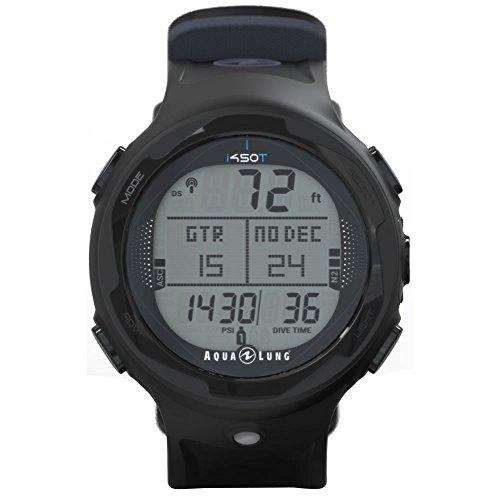 Aqua Lung i450t Hoseless Air Integrated Wrist Watch Dive Computer w/USB, Black