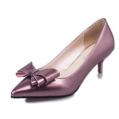 Rouge à Moins LvYuan Printemps Chaussures Automne Argent Rose Noeud cm ggx white Talons Marche Femme Bas de Noir Violet Talon Polyuréthane 5 2 ZqqSxg
