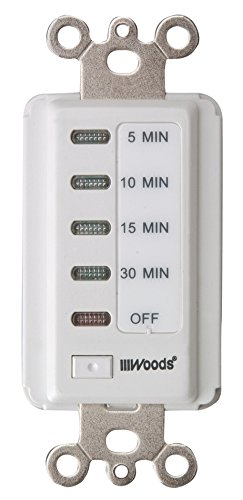 Woods 59007WD In-Wall 30-Minute Decora Digital Countdown Timer Electrical