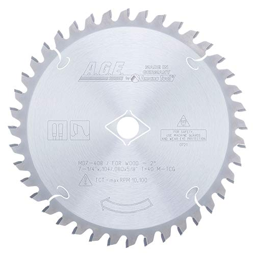 Disco Sierra AMANA Superficie sólida 7 1/4 X 40T 5/8 eje (