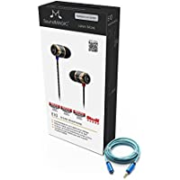 SoundMAGIC E10 Noise Isolating In-Ear Earphones (Black/Gunmetal) PLUS Blucoil 6 ft 3.5mm Extender for Headphones