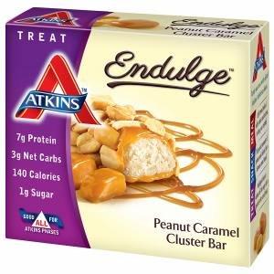 Atkins Endulge Treats, 5 pk, Peanut Caramel Cluster 1.2 oz (34 g)- pack of 3 by Endulge Treats
