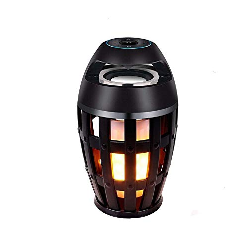 Eoncore LED Flame Lamp Waterproof Bluetooth Speaker Wireless Stereo Bass Speaker Atmosphere Night Light for Party Home Camping Outdoor