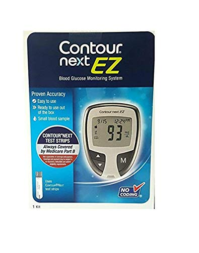 Contour Next EZ Blood Glucose Monitoring System Including 10 Tests Strips (07/31/2020)