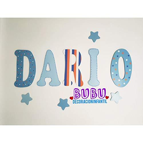 Nombres o letras con decoración infantil: Amazon.es ...