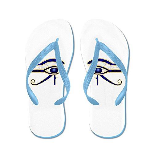 Echt Theemensen Egyptisch Oog Van Horus Of Ra Rubberen Slippers Sandalen Caribbean Blue