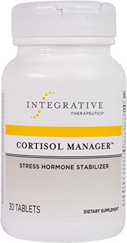 Integrative Therapeutics - Cortisol Manager - Sleep Support with Stress Reducing Ingredients including Ashwagandha and L-Theanine - Vegan - NSF Certified for Sport - 30 Tablets