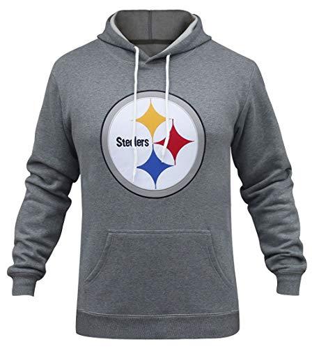 Winzonup Mens Sporty Football Steelers Sweatshirt Casual Pullover Hoodie-2XL