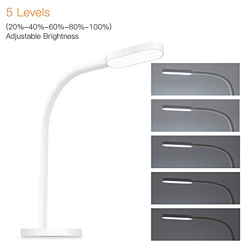 Lixada1 LED Desk Lamp Light Seneitive Touch Control 5 Levels Brightness Adjustable Dimmable 5 LevelsColor Temperature Changing USB Powered with Built-in 2000mAh High Capacity Rechargeable Battery by Lixada1 (Image #7)