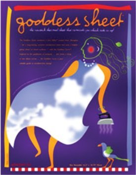 Goddess Sheet - One Reusable 10.75x16.5 Sheer Fiberglass for Fusing Surfaces Attached