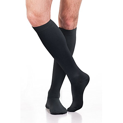 Tailored Thermal (Fytto 1080 Thermal Compression Socks 15-20mmHg, Circulation Support for Varicose-Veins, Cold Weather Travel Knee High Hosiery, Black, Medium)