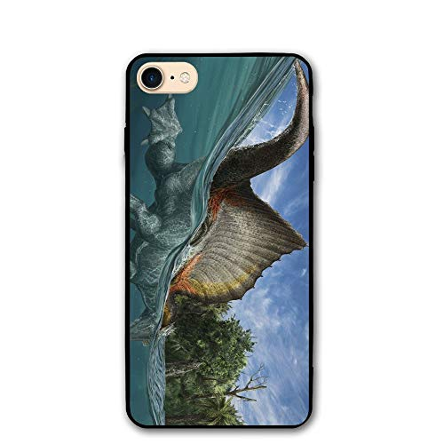 Spinosaurus Dinosaur Swimming Print IPhone 7 Case 8/8s Cases PC Material Protective Fit Resistant 4.7 Inch Cover Case ()