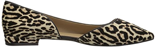 Leopard The Snow D'orsay Emma Women's Hair Flat Ballet Calf Fix toe Pointed wFBaHq