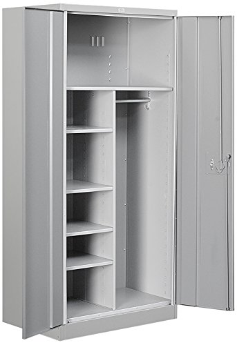 Salsbury Industries Combination Heavy Duty Storage Cabinet, 78-Inch by 24-Inch, Gray