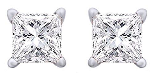 Buy 2 ct diamond earrings princess cut