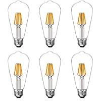 6-Pack Coowoo 60-watt Equivalent Vintage Pendant LED Light Bulb