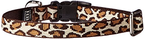 Harry Barker Leopard Collar - Natural - Small - 9-16 inch