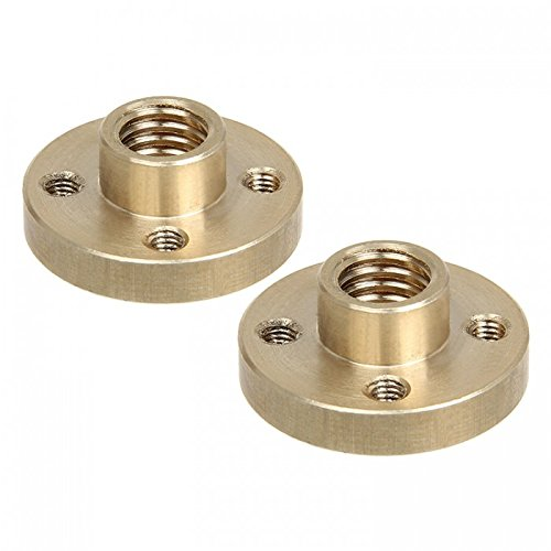 GEEETECH 2pcs Tin-bronze M8 nut for Z axis