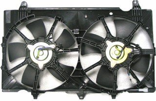QP N1810-a Nissan 350Z 350-Z Replacement AC A/C Condenser Radiator Cooling Fan/Shroud Assembly