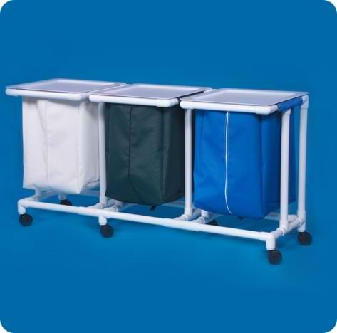 Jumbo Triple Linen Hamper - JH43MLP - Mint Leakproof Bags