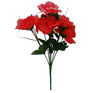 MM TJ Products Artificial Red Roses Bouquet 106
