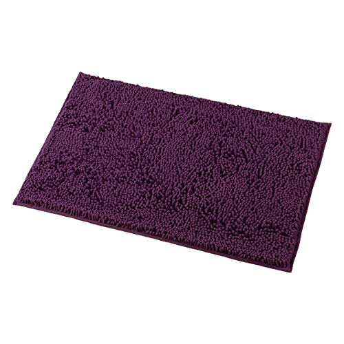 (MAYSHINE Bath mats for Bathroom Rugs Soft, Absorbent, Shaggy Microfiber,Machine-Washable, Perfect for Door Mat (20X32 inch Plum))
