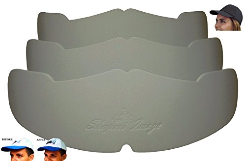 3Pk. Gray Manta Ray Baseball Caps Crown Inserts For Low Profile Caps| Hat Shapers| Hat Liner| Crown Hat Stretcher| Ball Caps Form| Hat Support| Hat Padding| Hat Storage Aide| 100% MBG.
