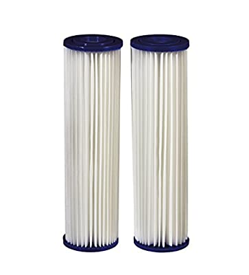 Filtrete Standard Capacity Whole House Pleated Water Filters, 30 Microns, Universal Filter, Sump Style Drop-In Filter, 2-Filters (3WH-STDPL-F02)