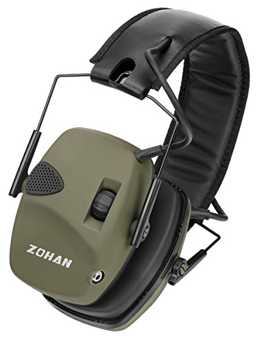 (ZOHAN Electronic Shooting Ear Muff, Professional Sound Amplification Noise Reduction Hunting Earmuff - NRR 22 dB)
