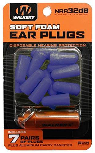 Why Should You Buy Walker's 7 Pairs Neon Yellow Foam Ear Plugs with Orange Aluminum Canister