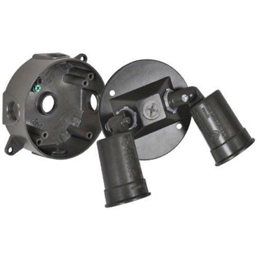 Longyou Yilaida Lcr23N-Br Master Electrician Double Flood Holder Kit, Round, Bronze