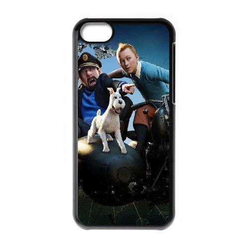 B3W32 Les Aventures de Tintin P7P2JN coque iPhone 5c cellulaire cas de téléphone couvercle coque noire DB4ODB2XS