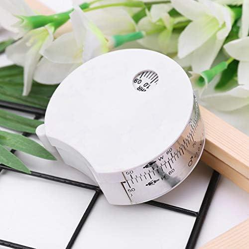 Tandou BMI Body Mass Index Retractable Tape 150cm Measure Calculator Diet Weight Loss