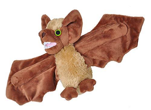Wild Republic Huggers, Brown Bat Plush Toy, Slap Bracelet Stuffed Animal, Kids Toys, 8 Inches