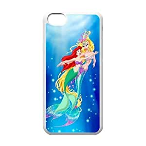 Durable Rubber Cases iPhone 5C Cell Phone Case White Nwsnx The Little Mermaid Protection Cover
