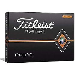 Titleist Pro V1 Golf Balls, White, High Play Numbers (5-8), One Dozen