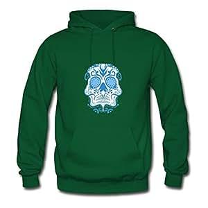 Cotton Chic Sugar Skull Women Customizable X-large Sweatshirts Green