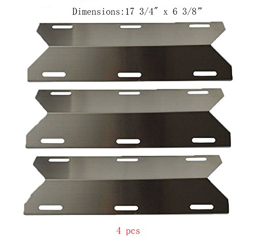 SP1231 (3-pack) Stainless Steel Heat Plate, Heat Shield, Heat Tent for Costco Kirland, Glen Canyon, Jenn-air, Nexgrill, Sterling Forge, Lowes Model Grills by BBQ Mart