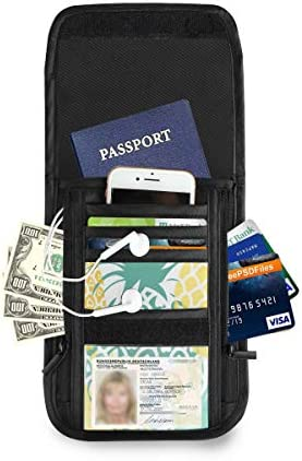 パイナップル パスポートホルダー セキュリティケース パスポートケース スキミング防止 首下げ トラベルポーチ ネックホルダー 貴重品入れ カードバッグ スマホ 多機能収納ポケット 防水 軽量 海外旅行 出張 ビジネス