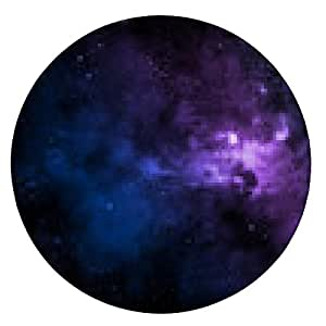 alfombrilla de ratón niebla de color en el cielo estrellado - ronda - 20cm