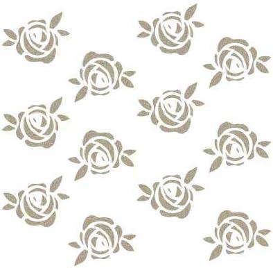 cm Tama/ño del stencil 12 x 12 Stencil Mini Deco Mini Fondo 061 Florecitas Tama/ño figura 9 x 8.8 cm