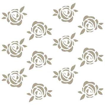 Renkalik Rose Deco Fondo Stencil 12 x 12 cm