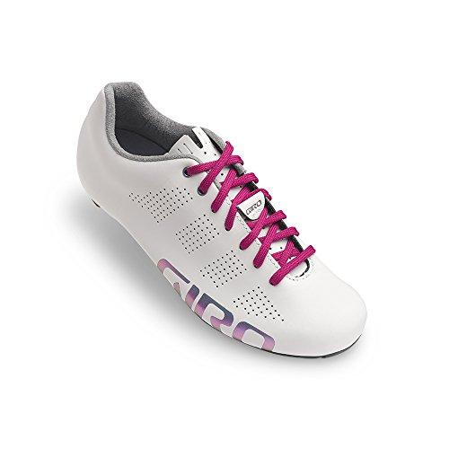 Giro Empire Womens Acc Bianco Riflettente Scarpe Da Bici Da Strada Taglia 36